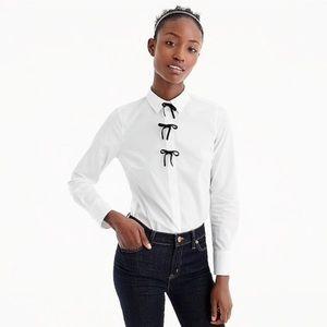 J. Crew | NWT Perfect Shirt w/ Velvet Bows